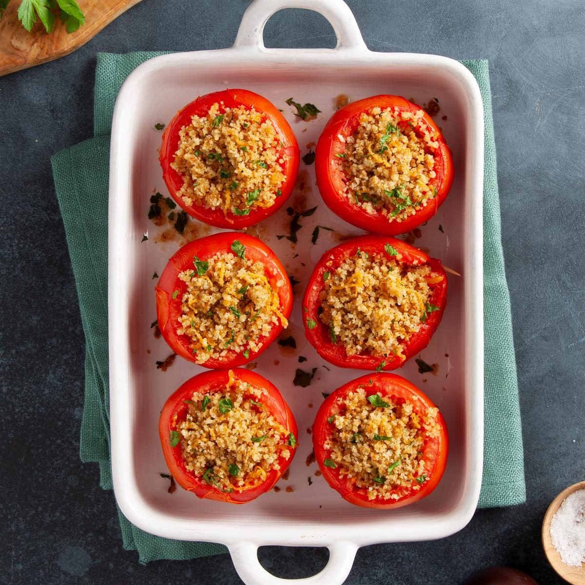 Stuffed Baked Tomatoes Recipe How To Make It Taste Of Home