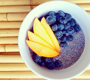 maple cardomom chia pudding