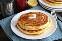 Lemon Cornmeal Pancakes   Tasty Kitchen Blog