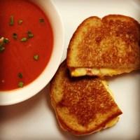 Pimento Grilled Cheese & Tomato Soup | TastyThumb