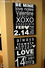 Valentine Subway Art Tutorial with pdf