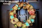2010 Burlap Wreath and a giveaway