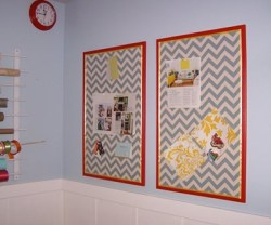 Guest Project — Make Thrifty Chevron Bulletin Boards {get organized}!