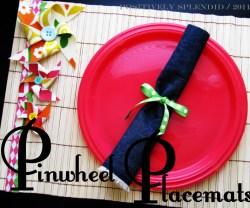 bamboo fabric pinwheel placemat 6