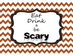 Free Halloween Chevron Printable!