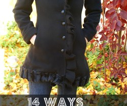 14 Easy Ways to Refashion a Winter Coat!! {tutorial}