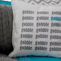 gobble gobble pillow