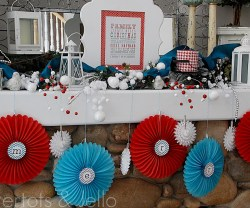 Easy and Inexpensive Holiday Party Mantel Decor!!