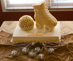 new years eve disco ball cake