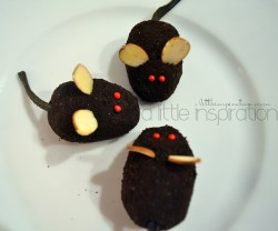 no bake oreo mice cookies