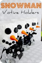 Make DIY Snowman Votives out of wine glasses!! (great teacher or neighbor gift)