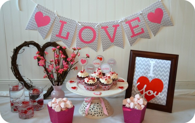 Free chevron valentine 39 s day party printables - Regalos originales para dos ...