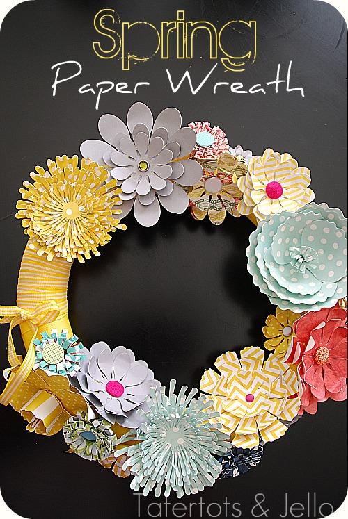 make a spring paper wreath