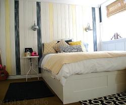Nautical Teen Room with Rustic Beach-Inspired Weathered Wall!