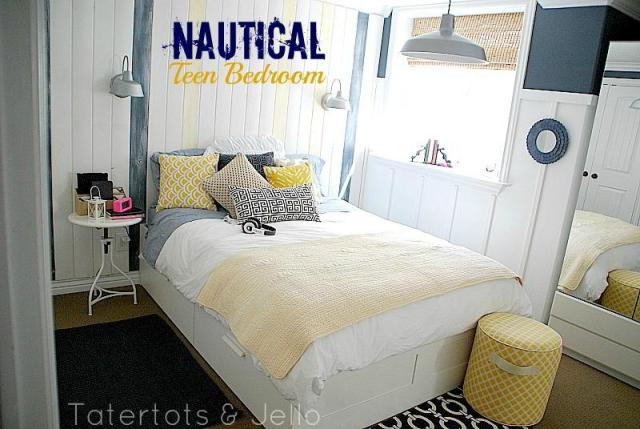 Nautical Navy And White Teen Bedroom And 100 Lowe 39 S Gift