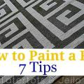 7 tips on how to paint a rug cropped