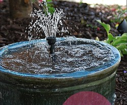 recirculating fountain header