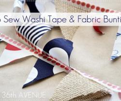 no sew washi tape garland