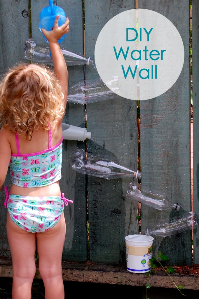 12 fun outdoor activities to make with kids for Diy water wall