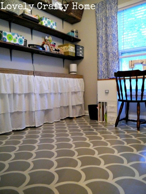 20 painted projects to make for Painted vinyl floor ideas