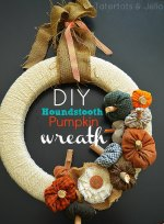 Make a Fall Houndstooth Plaid Pumpkin Wreath!