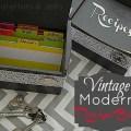 vintage modern recipe box