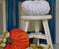 plush minky pumpkins tutorial