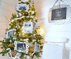 My Winter White Family Photo Christmas Tree!!