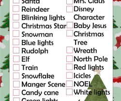 HAPPY Holidays — Printable Scavenger Hunt Game!