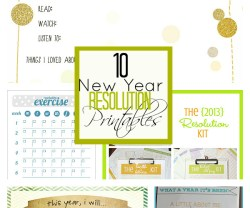 10 Resolution Printables