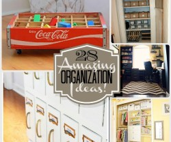 28 amazing organization ideas featured on tatertotsandjello.com