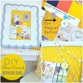 diy fbric covered inspiration board