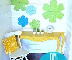 diy wood shim flowers at Tatertots and Jello