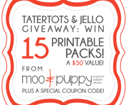 Weekend Wrap Up Party — and $50 Moo & Puppy Printable Giveaway!!