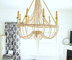 DIY Beaded Chandelier Tutorial at Tatertots and Jello
