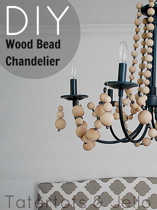 beachy wood chandelier