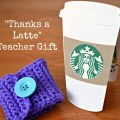 latte hand crocheted teacher appreciation gift