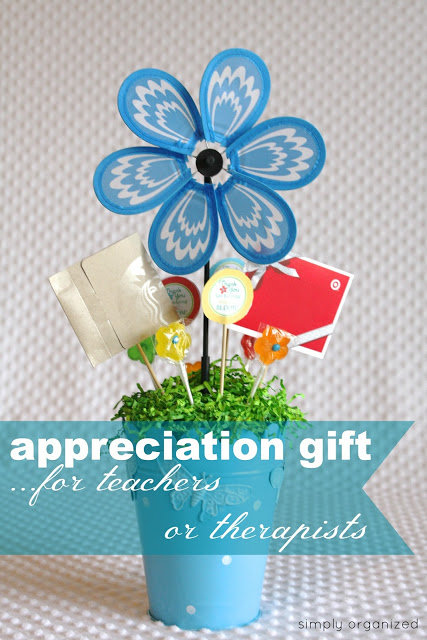 teacher appreciation flower idea