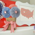 patriotic mantel at tatertots and jello