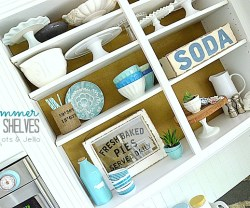 Summer Open Kitchen Shelves!