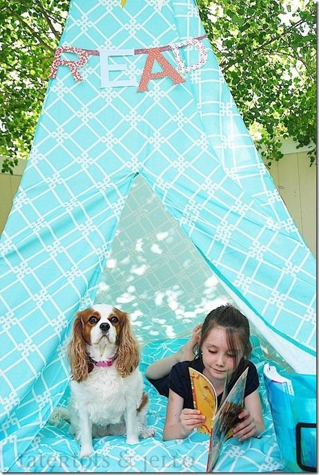 summer reading tent