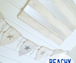 beachy star garland and flag at tatertots and jello