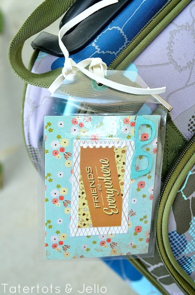 make luggage tags with your kids and free printable