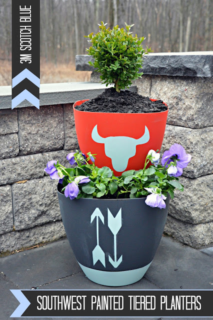 southwest tiered planters