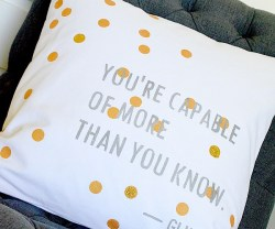youre capable of more than you know pillow