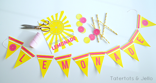 Summer Lemonade Stand Printables at Tatertots & Jello