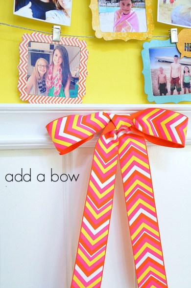 add a bow to the instagram display