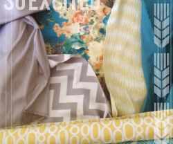 master bedroom makeover fabric