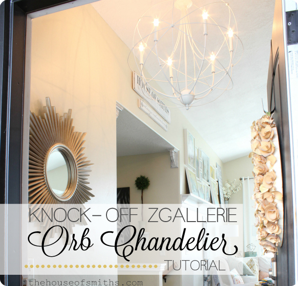 DIY Orb Light tutorial - entryway decor light - thehouseofsmiths