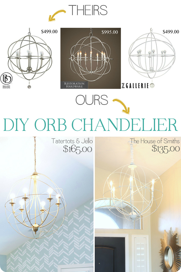 DIY orb chandelier - zgallerie knockoff orb chandelier tutorial